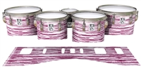 Ludwig Ultimate Series Tenor Drum Slips - Chaos Brush Strokes Maroon and White (Red)
