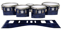 Ludwig Ultimate Series Tenor Drum Slips - Chaos Brush Strokes Navy Blue and Black (Blue)