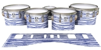 Ludwig Ultimate Series Tenor Drum Slips - Chaos Brush Strokes Navy Blue and White (Blue)