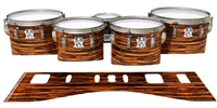 Ludwig Ultimate Series Tenor Drum Slips - Chaos Brush Strokes Orange and Black (Orange)