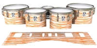 Ludwig Ultimate Series Tenor Drum Slips - Chaos Brush Strokes Orange and White (Orange)