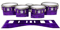 Ludwig Ultimate Series Tenor Drum Slips - Chaos Brush Strokes Purple and Black (Purple)