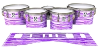 Ludwig Ultimate Series Tenor Drum Slips - Chaos Brush Strokes Purple and White (Purple)