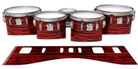 Ludwig Ultimate Series Tenor Drum Slips - Chaos Brush Strokes Red and Black (Red)