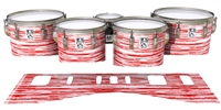 Ludwig Ultimate Series Tenor Drum Slips - Chaos Brush Strokes Red and White (Red)
