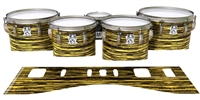 Ludwig Ultimate Series Tenor Drum Slips - Chaos Brush Strokes Yellow and Black (Yellow)