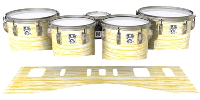 Ludwig Ultimate Series Tenor Drum Slips - Chaos Brush Strokes Yellow and White (Yellow)