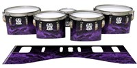 Ludwig Ultimate Series Tenor Drum Slips - Coast GEO Marble Fade (Purple)