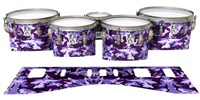 Ludwig Ultimate Series Tenor Drum Slips - Coastline Dusk Traditional Camouflage (Purple)