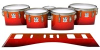 Ludwig Ultimate Series Tenor Drum Slips - Coral Sunset (Orange)