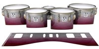 Ludwig Ultimate Series Tenor Drum Slips - Cranberry Stain (Red)