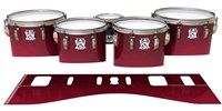 Ludwig Ultimate Series Tenor Drum Slips - Crimson Depth (Red)