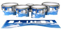 Ludwig Ultimate Series Tenor Drum Slips - Cumulus Sky (Themed)