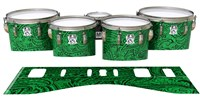Ludwig Ultimate Series Tenor Drum Slips - Dark Green Paisley (Themed)