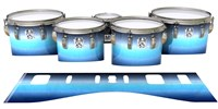 Ludwig Ultimate Series Tenor Drum Slips - Dark Nilas (Blue)