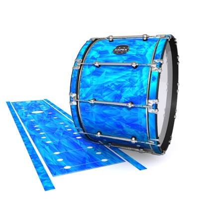 Mapex Quantum Bass Drum Slip - Blue Cosmic Glass (Blue)