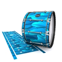 Mapex Quantum Bass Drum Slip - Blue Feathers (Themed)