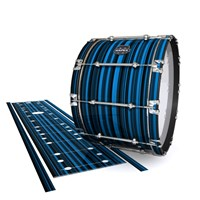 Mapex Quantum Bass Drum Slip - Blue Horizon Stripes (Blue)