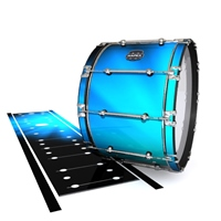Mapex Quantum Bass Drum Slip - Blue Light Rays (Themed)