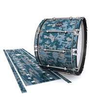 Mapex Quantum Bass Drum Slip - Blue Slate Traditional Camouflage (Blue)