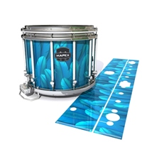 Mapex Quantum Snare Drum Slip - Blue Feathers (Themed)