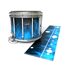 Mapex Quantum Snare Drum Slip - Blue Flames (Themed)