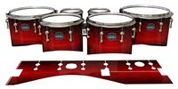 Mapex Quantum Tenor Drum Slips - Active Red (Red)