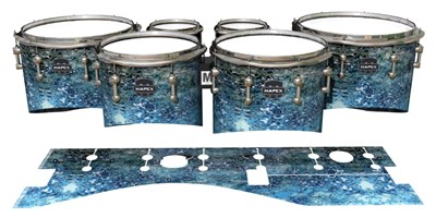 Mapex Quantum Tenor Drum Slips - Aeriform (Blue)