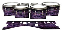 Mapex Quantum Tenor Drum Slips - Alien Purple Grain (Purple)