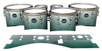Mapex Quantum Tenor Drum Slips - Alpine Fade (Green)