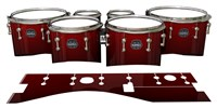 Mapex Quantum Tenor Drum Slips - Apple Maple Fade (Red)