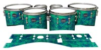 Mapex Quantum Tenor Drum Slips - Aqua Cosmic Glass (Aqua)