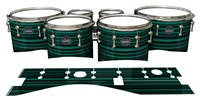 Mapex Quantum Tenor Drum Slips - Aqua Horizon Stripes (Aqua)