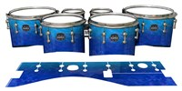 Mapex Quantum Tenor Drum Slips - Aquatic Blue Fade (Blue)