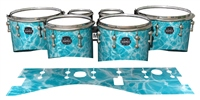 Mapex Quantum Tenor Drum Slips - Aquatic Refraction (Themed)
