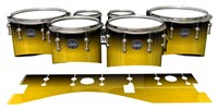 Mapex Quantum Tenor Drum Slips - Aureolin Fade (Yellow)