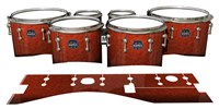 Mapex Quantum Tenor Drum Slips - Autumn Fade (Orange)