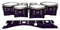 Mapex Quantum Tenor Drum Slips - Black Cherry (Purple)