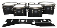 Mapex Quantum Tenor Drum Slips - Black Stain (Neutral)