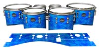 Mapex Quantum Tenor Drum Slips - Blue Cosmic Glass (Blue)