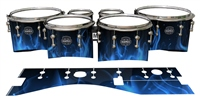 Mapex Quantum Tenor Drum Slips - Blue Flames (Themed)