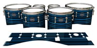 Mapex Quantum Tenor Drum Slips - Blue Horizon Stripes (Blue)