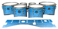 Mapex Quantum Tenor Drum Slips - Blue Ice (Blue)