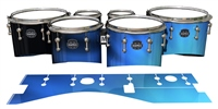 Mapex Quantum Tenor Drum Slips - Blue Light Rays (Themed)