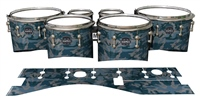 Mapex Quantum Tenor Drum Slips - Blue Slate Traditional Camouflage (Blue)