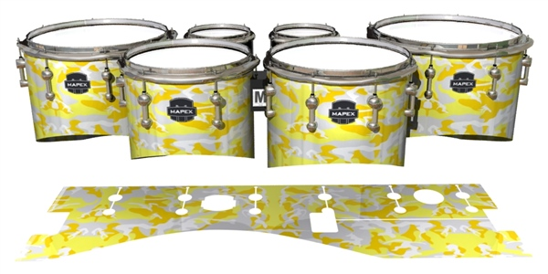 Mapex Quantum Tenor Drum Slips - Solar Blizzard Traditional Camouflage (Yellow)