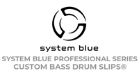 "System Blue Professional Series Bass Drum Slips ""ON2 Design Team"" Custom Design Package"