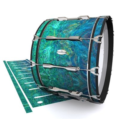 Pearl Championship Maple Bass Drum Slip - Aquamarine Blue Pearl (Aqua)
