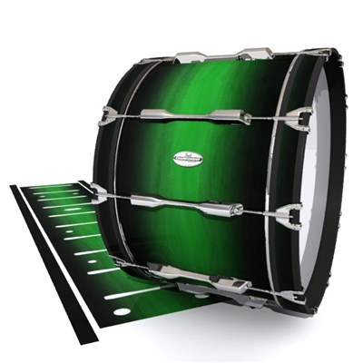 Pearl Championship Maple Bass Drum Slip - Asparagus Stain Fade (Green)