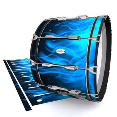 Pearl Championship Maple Bass Drum Slip - Blue Flames (Themed)
